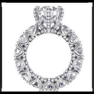 Halo Eternity engagement sapphire ring
